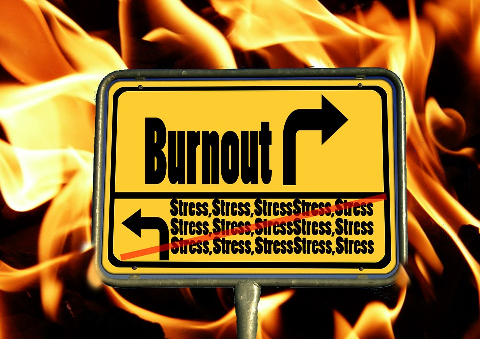 "A sign that reads ""Burnout"""