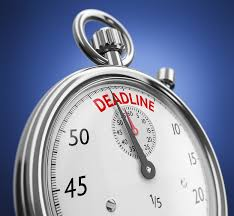 A stopwatch set to Deadline