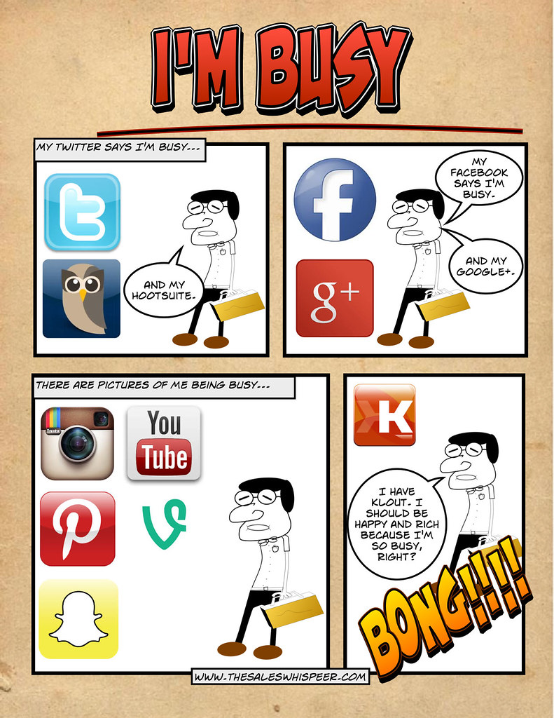 A busy man on social media