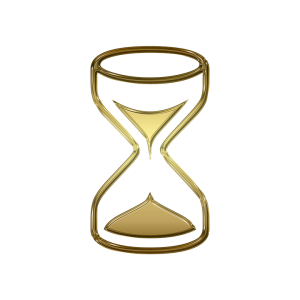 A golden hourglass