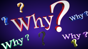 "The question ""why?"" written four times"