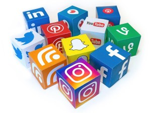 Blocks of social media icons