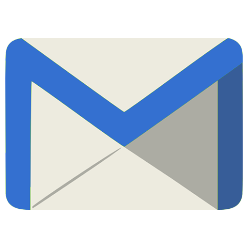 A blue envelope