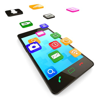 A phone screen with many app icons