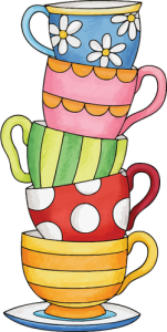 An overflowing stack of cups