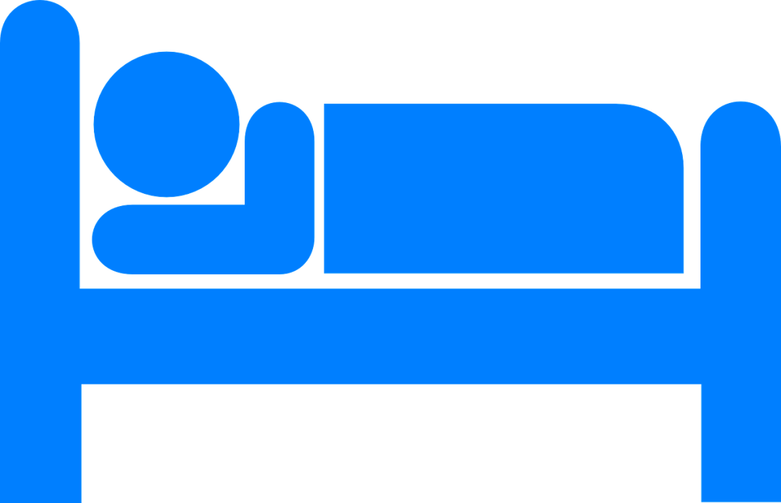 A bed icon