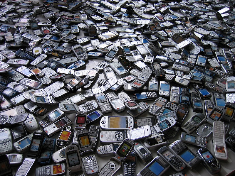 A sea of phones