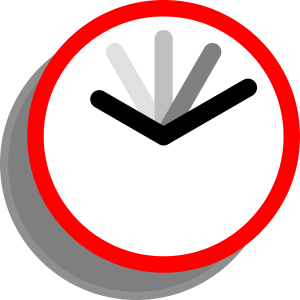A clockface with multiple arms