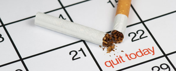 Quit smoking on the 22nd