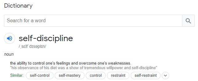 A definition of self-discipline